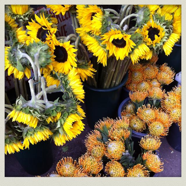 Jaune soleil, peps attitude. NYC, dans la rue des fleuristes, 2013. By Miss Carole.