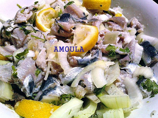 salade de sardines ---- سلطة السردين