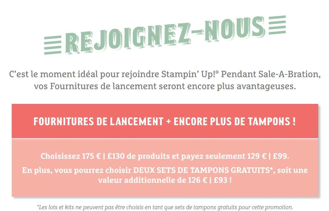 Rejoindre Stampin'Up !