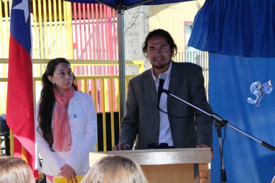 Inauguration au Chili (région du Charbon - Coronel) du Jardin d'enfants Libertad (Fondation CEPAS) dont le financement a été apporté par l'AFAENAC