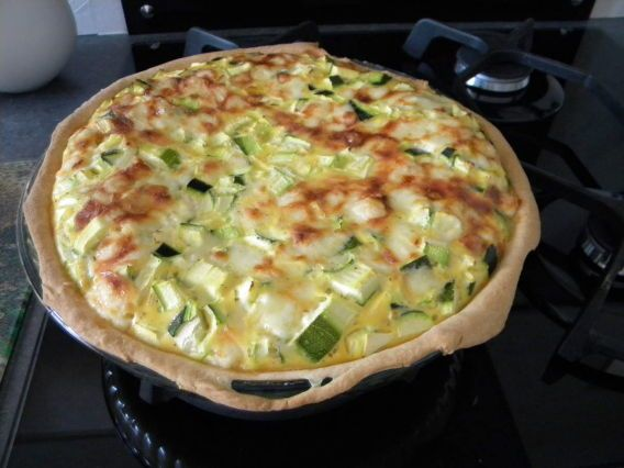 Tarte courgettes et cantal