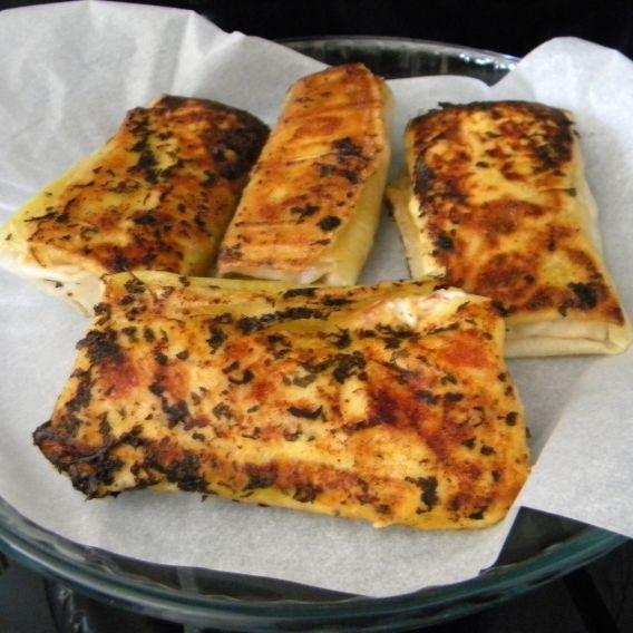 Croustillants de tomate et mozzarella