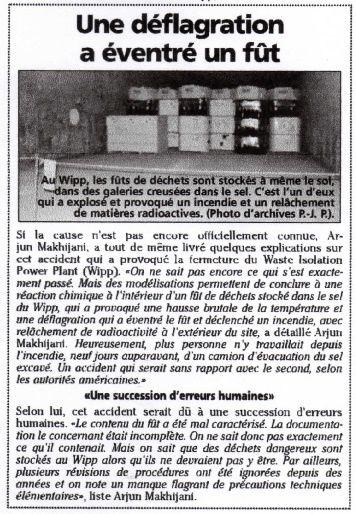 Parur dans le Journal de la Haute Marne le 17 avril 2015