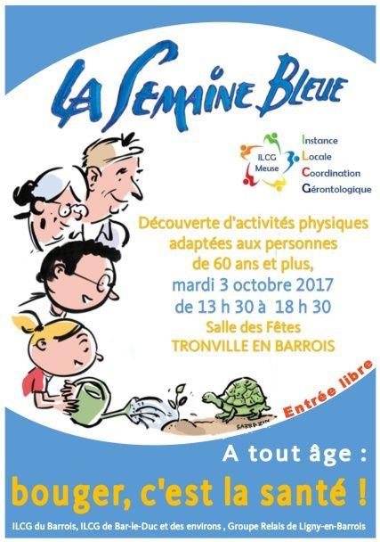 Les ILCG du Barrois et de Bar-le-Duc et des environs et le Groupe Relais de Ligny en Barrois participent à la Semaine Bleue