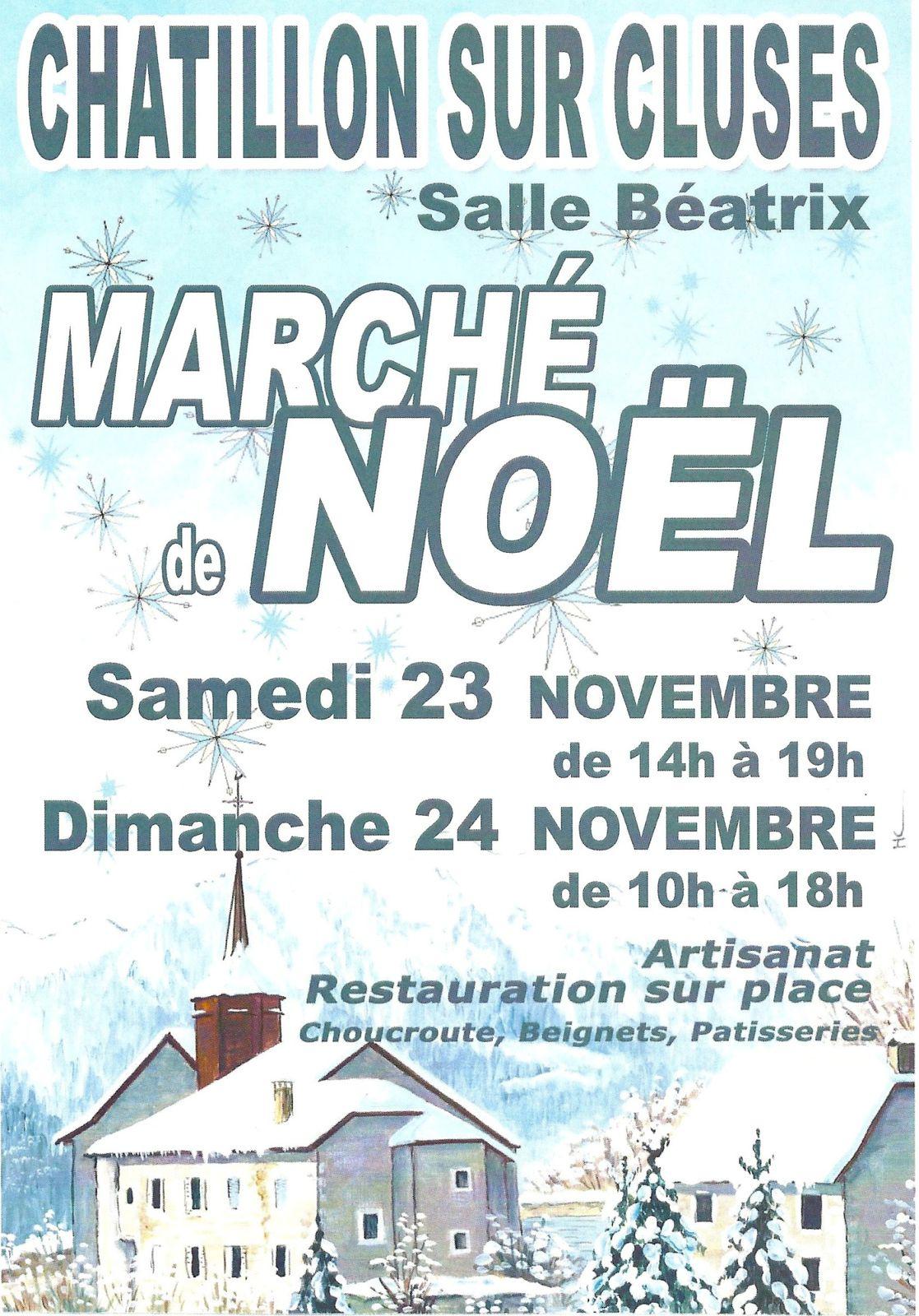 Marché de Noël Chatillon sur Cluses