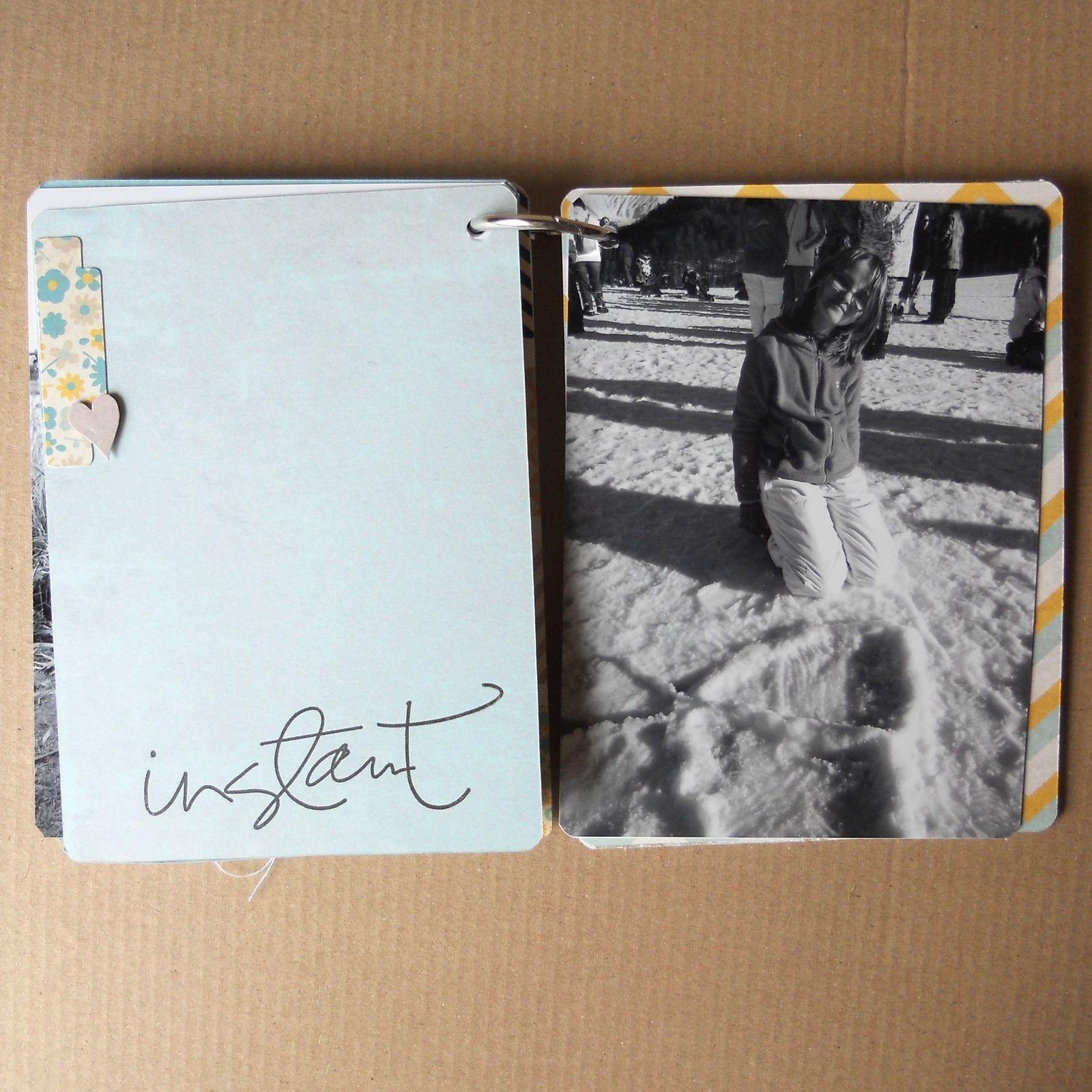 mini album imitation bois