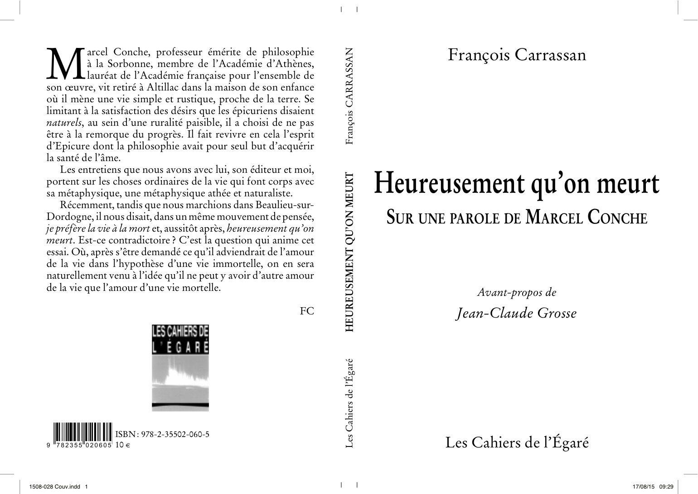 Heureusement qu'on meurt / François Carrassan