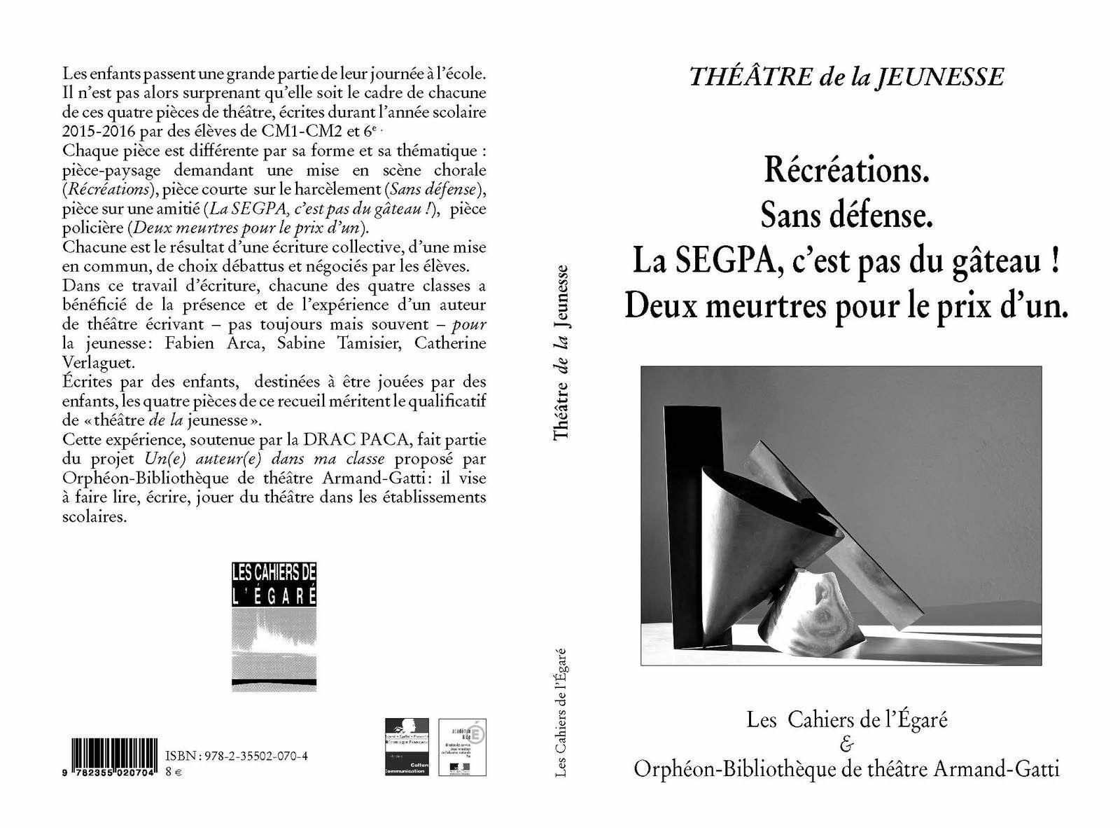 LES 7 TITRES DES CAHIERS DE L'ÉGARÉ PARUS EN 2016 + les 2 titres parus dans La Collection privée du Capitaine