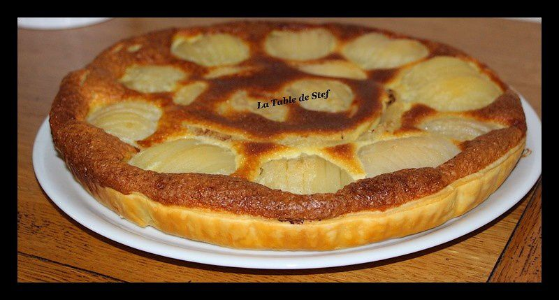 tarte poire chocolat amande la table de stef
