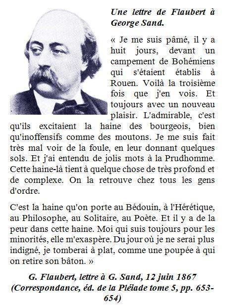 Une lettre de Flaubert à G. Sand