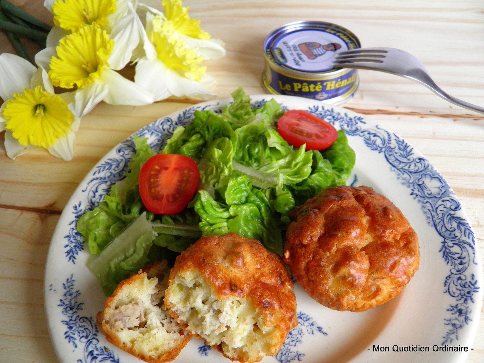 Mini Muffins aux poireaux et au Pâté Hénaff