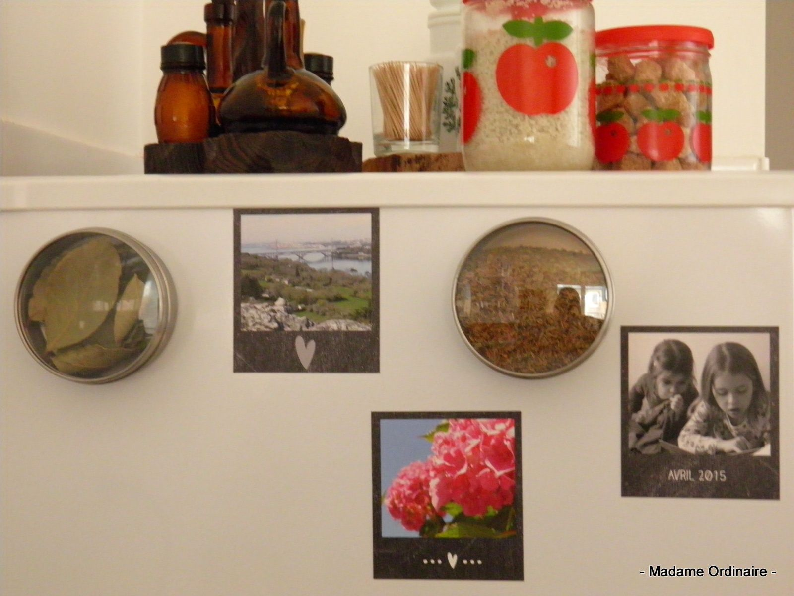 Nos souvenirs sur le frigo