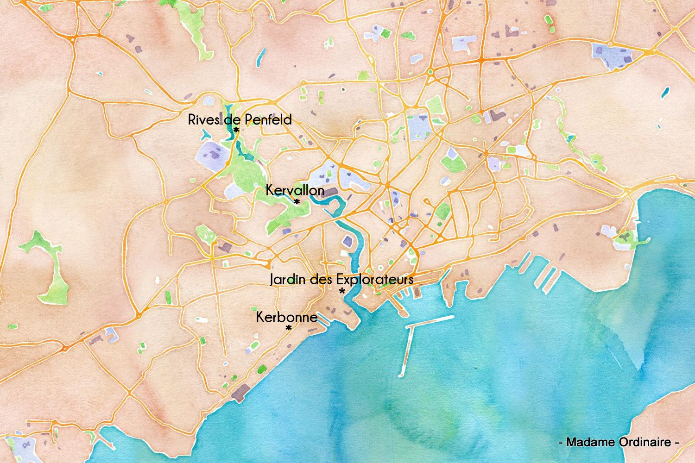 Les espaces verts à Brest, entre détente et patrimoine