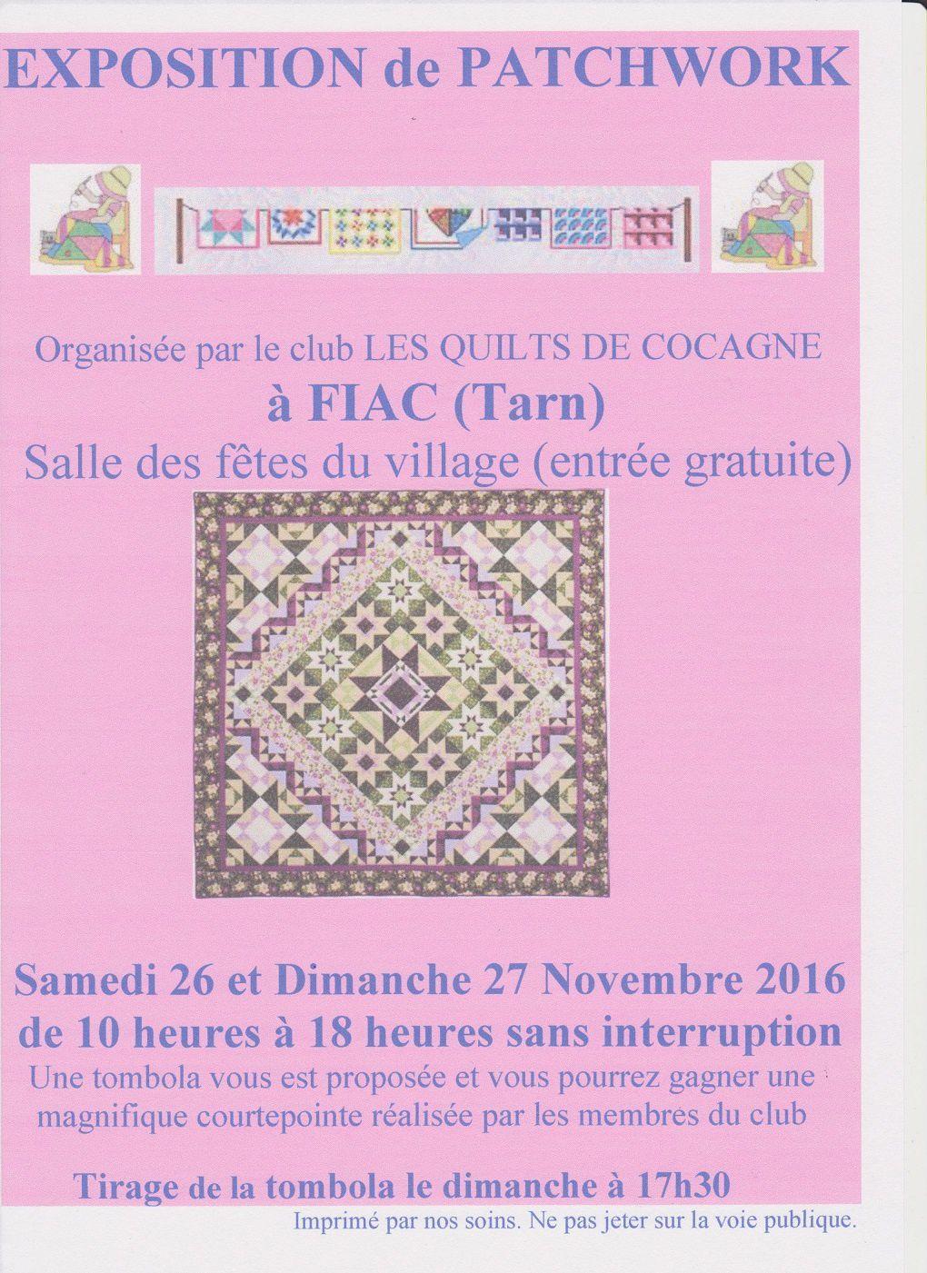 exposition de patchworks à Fiac