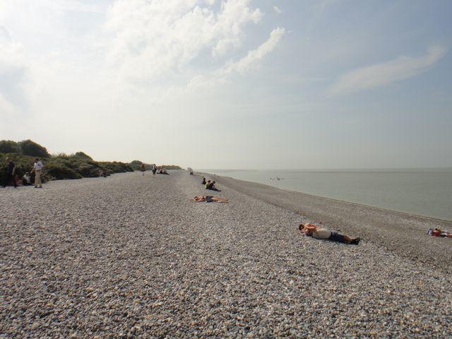 La plage du Hourdel.
