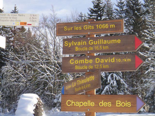 De plus près pour voir où nous sommes, Sur les Gîts, 1066 m d'altitude.