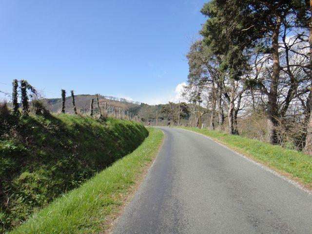 Petites routes tranquilles avant d'attaquer la montée sur le col de Fontbruno.