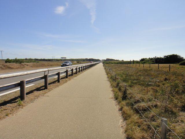 Puis direction Quiberon par une belle piste cyclable, tout du moins au début, car plus loin plus rien.