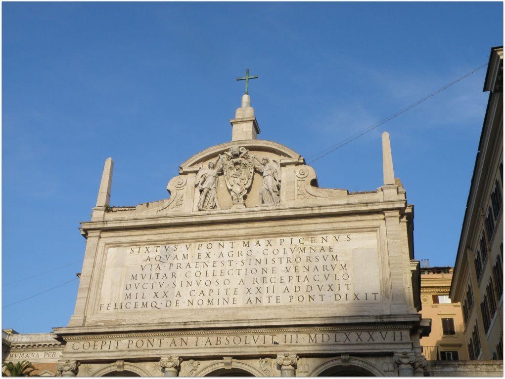 La fontaine de l'Acqua Felice