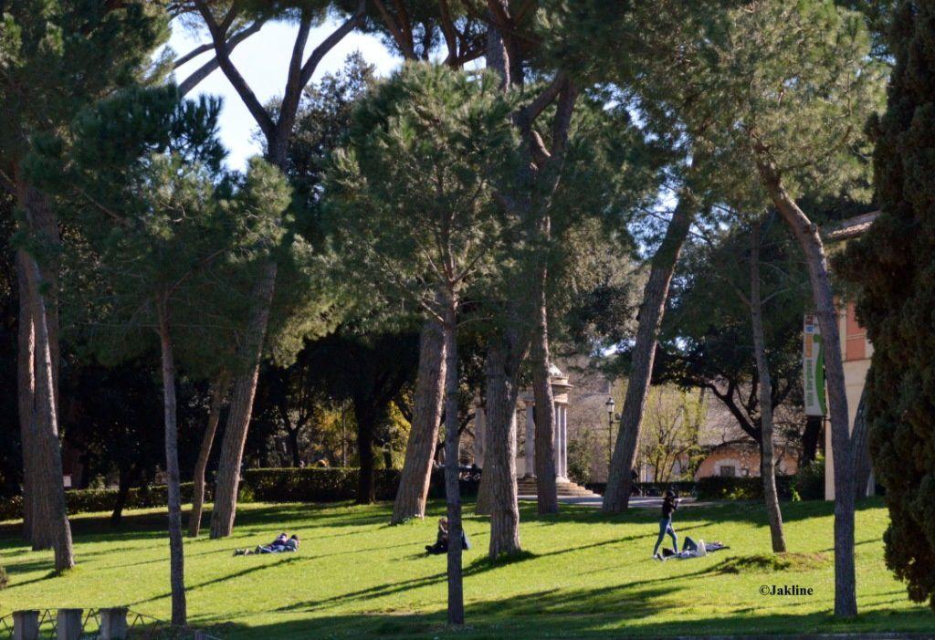 Le jardin de Villa Borghèse