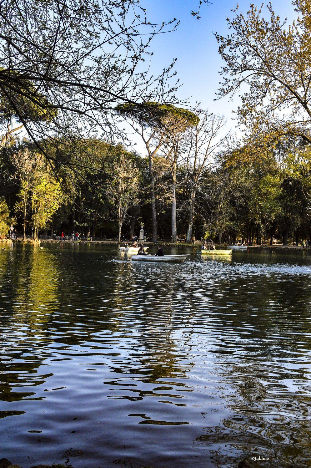 Le petit lac de Villa Borghèse