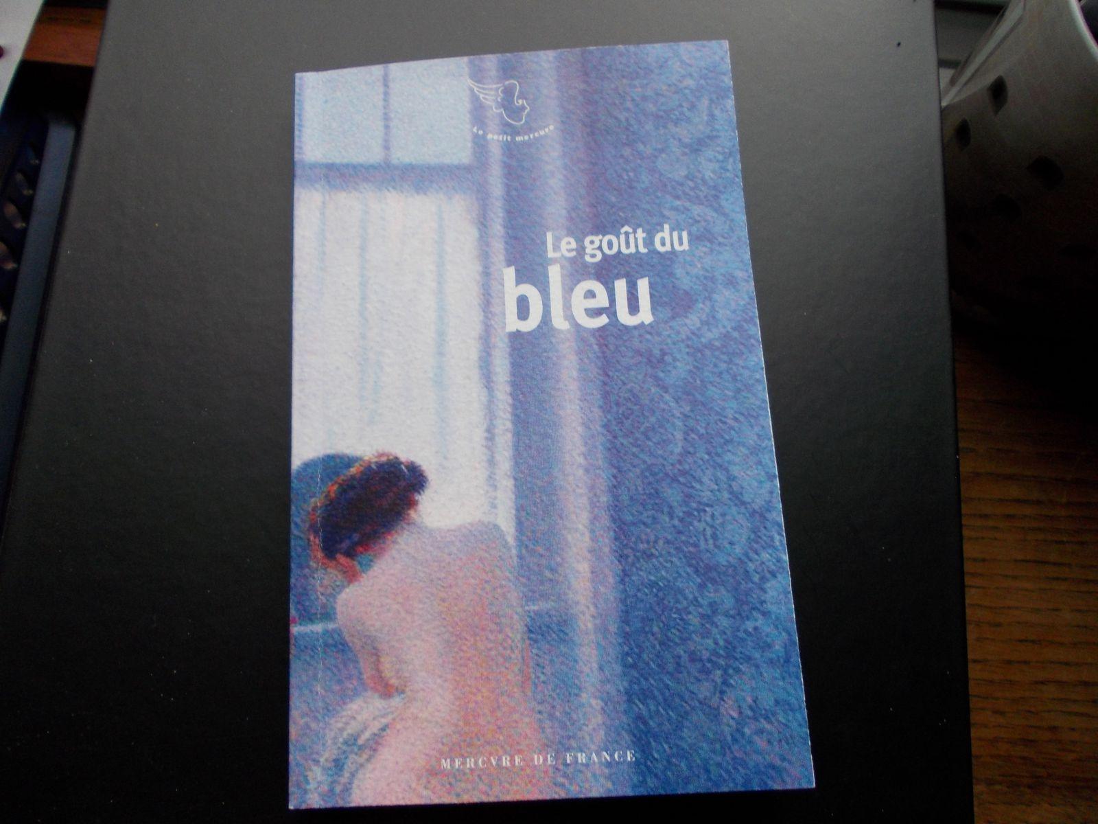 BLEU - livre offert par ma belle-soeur Odile avec une dédicace qui m'a beaucoup touchée - merci Odile - plein de bisous