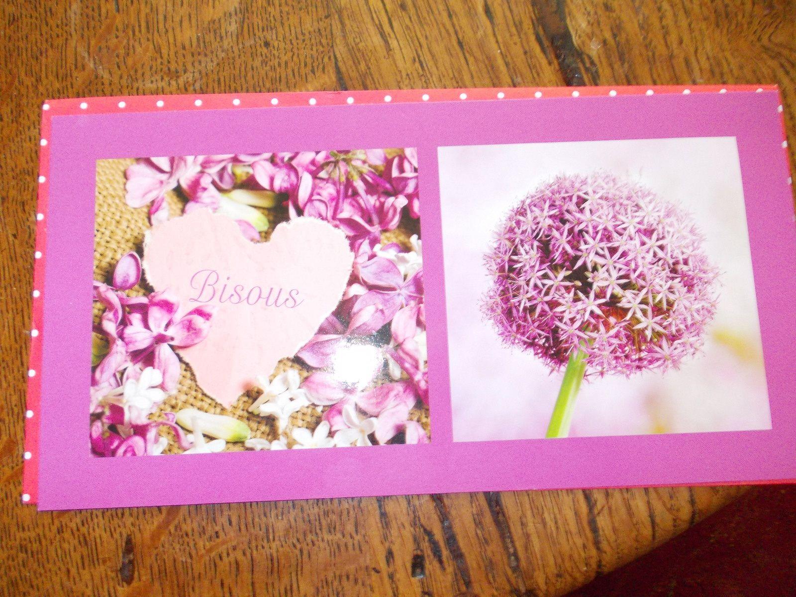 carte et hibou, magnifique et délicat découpage  de Monique Bluesy - merci Monique et carte de Marie-Jo