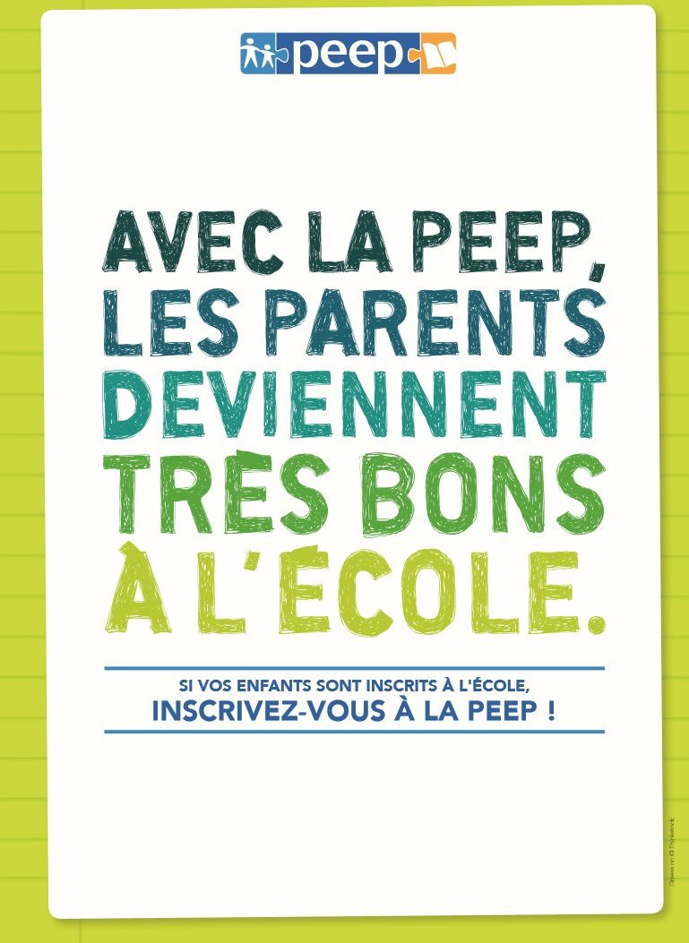 Avec la PEEP les parents deviennent très bons à l'école