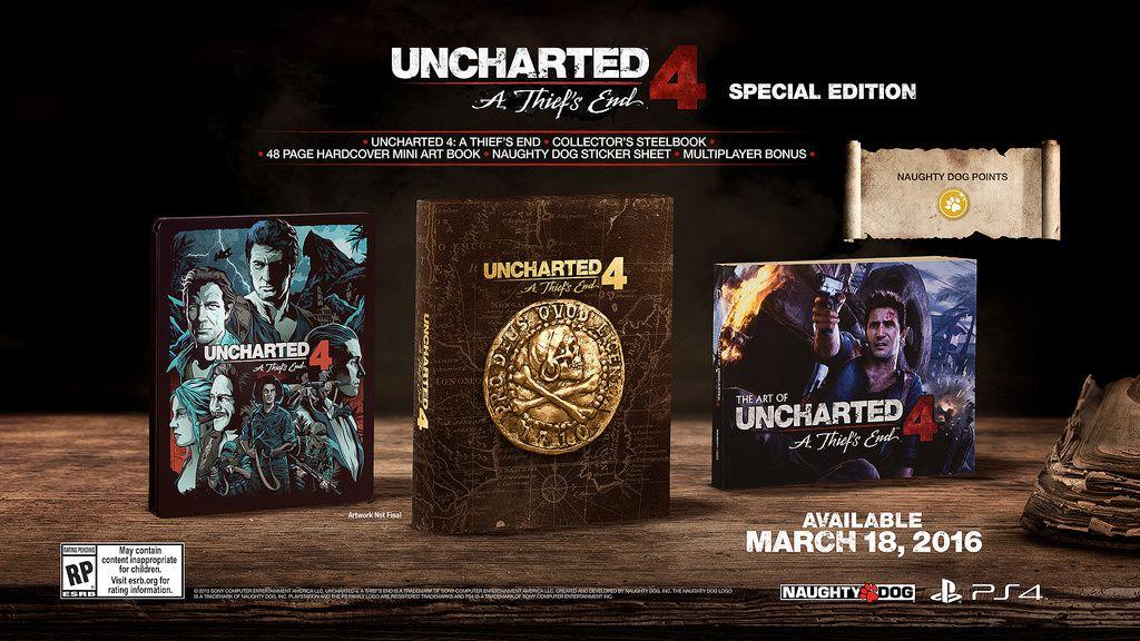 Deux éditions pour Uncharted 4 The Thief's End