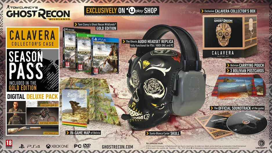 Un collector et une figurine pour Ghost Recon Wildlands