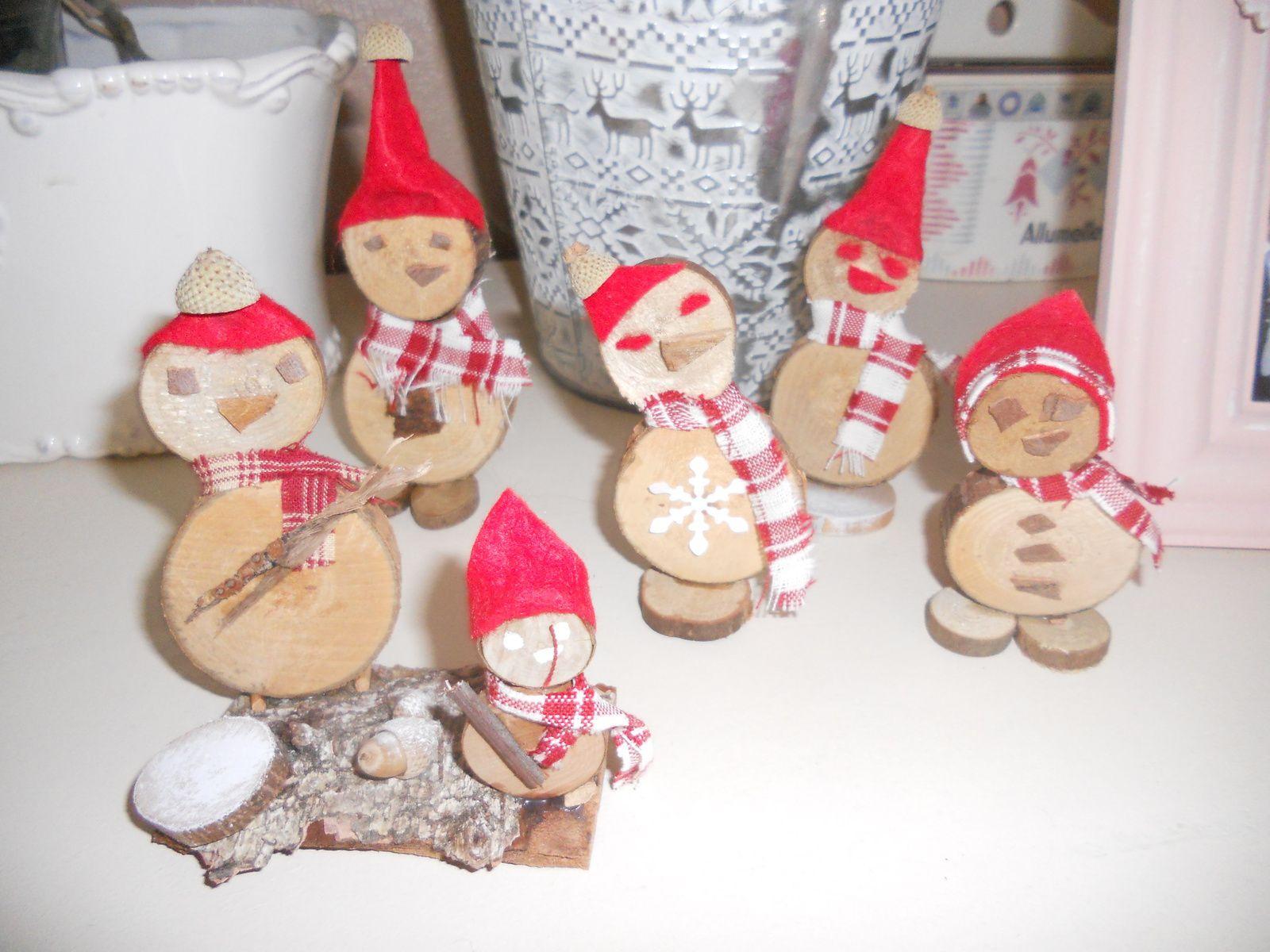 Bonhomme de neige... en bois...