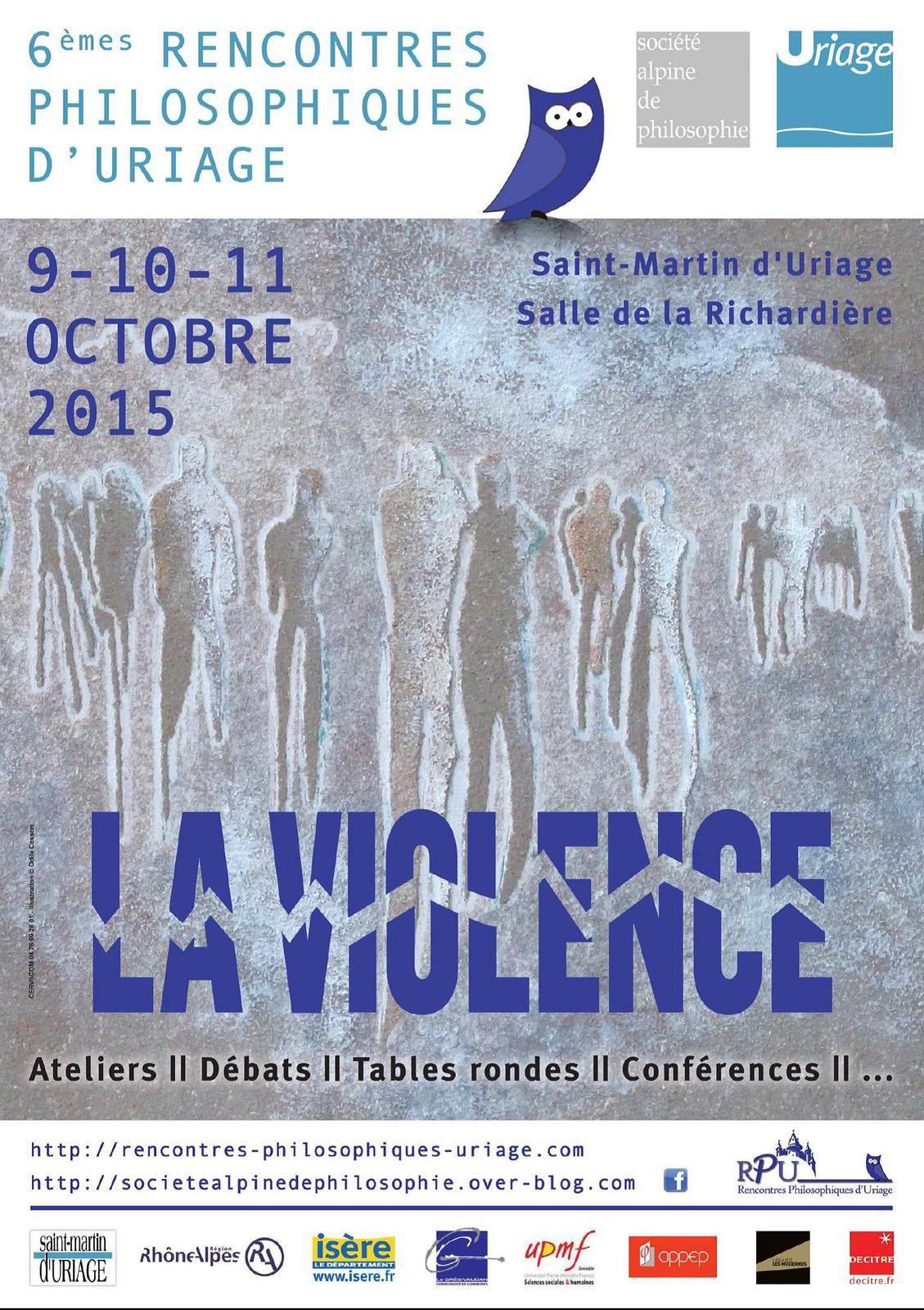 Rencontres philosophiques d'Uriage 2015 - Affiche