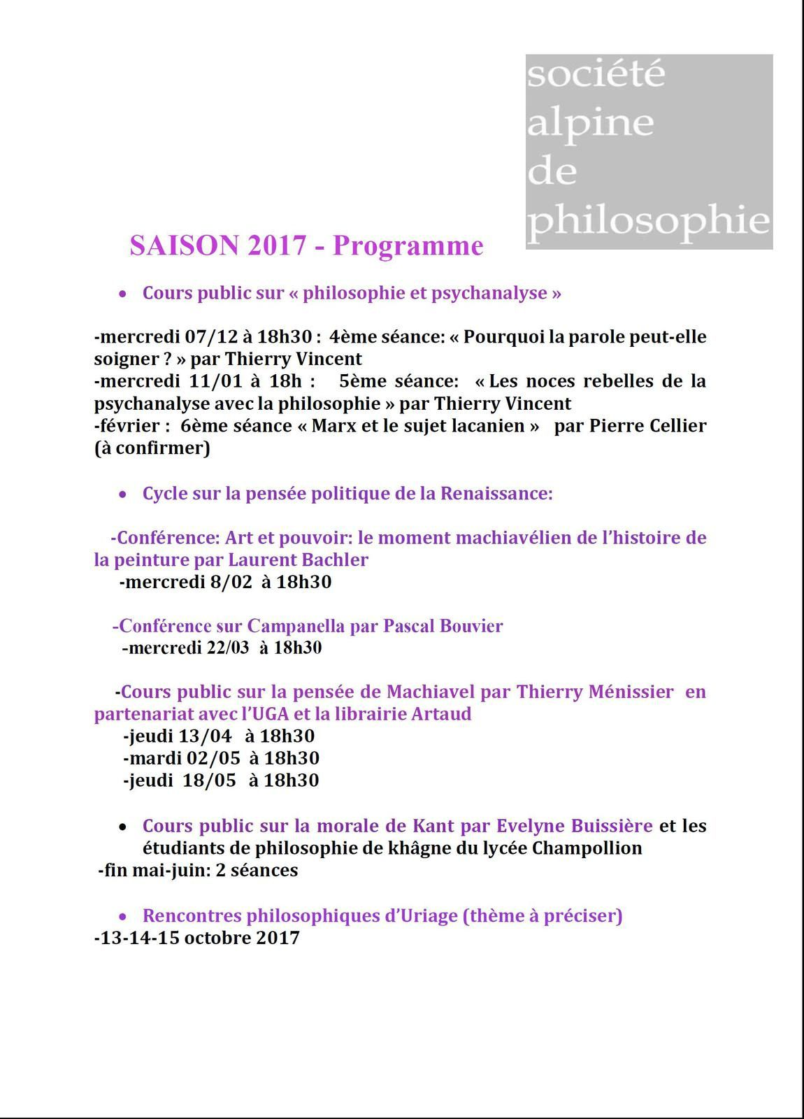 Rencontres d'uriage 2018