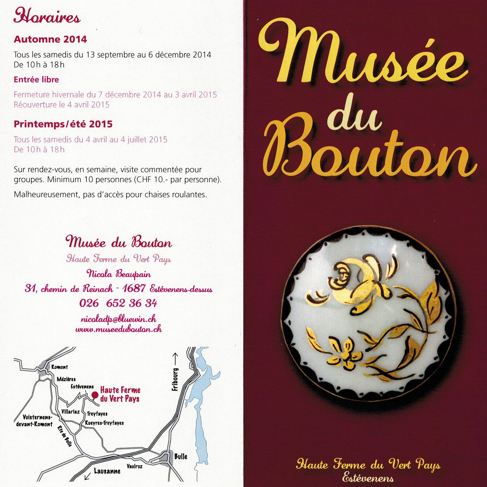 Musée du Bouton Expo Marquoirs anciens