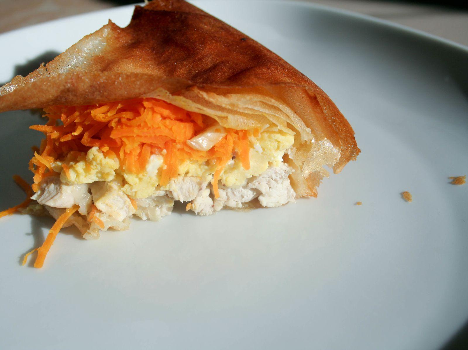 Pastilla de poulet à la citronnelle à ma façon :)