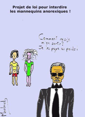 Un projet de loi contre les mannequins trop maigres !
