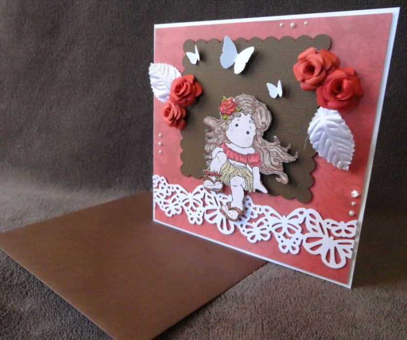 Carte magnolia &quot&#x3B;Tilda Tahitienne&quot&#x3B;