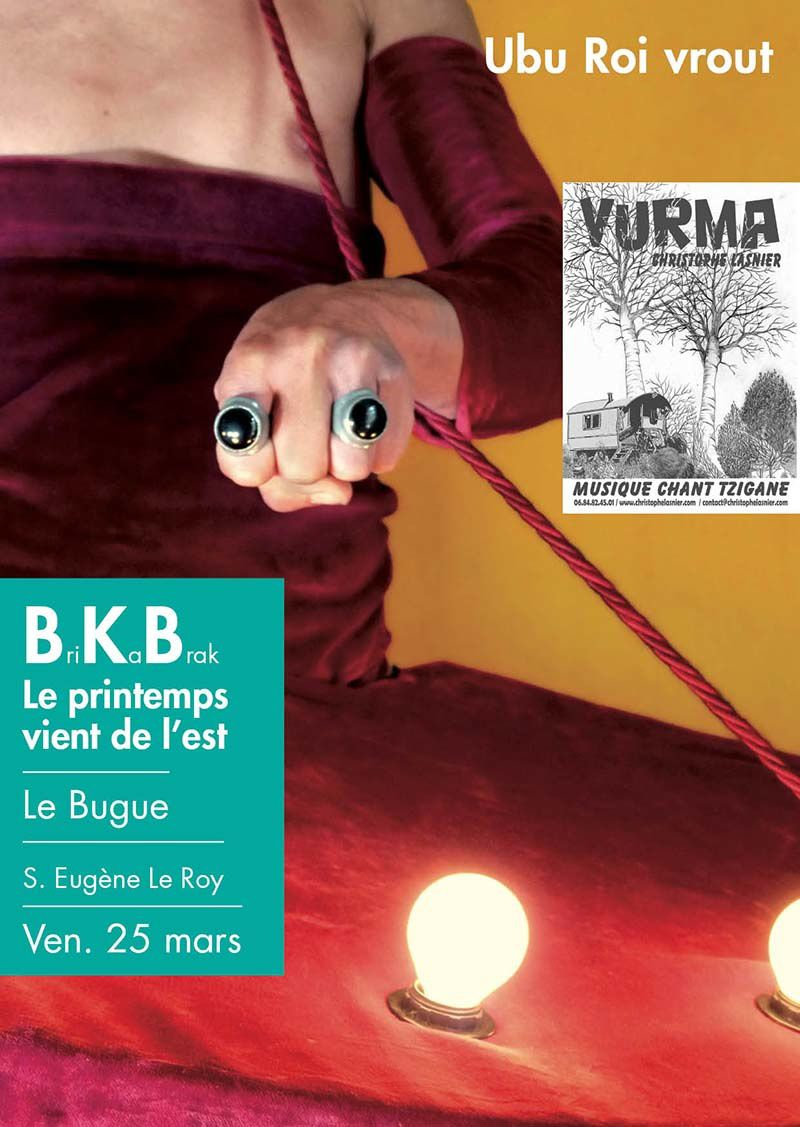 LE BUGUE le 25/03/2016  spectacles BRIKABRAK