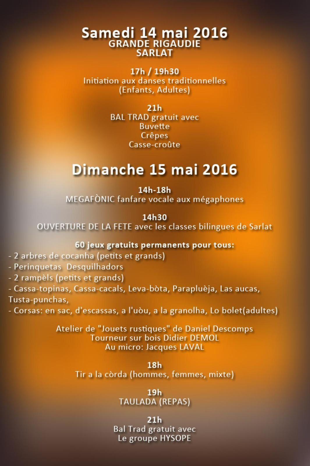 Sarlat La Ringueta 2016 bal folk avec hysope le 15 mai