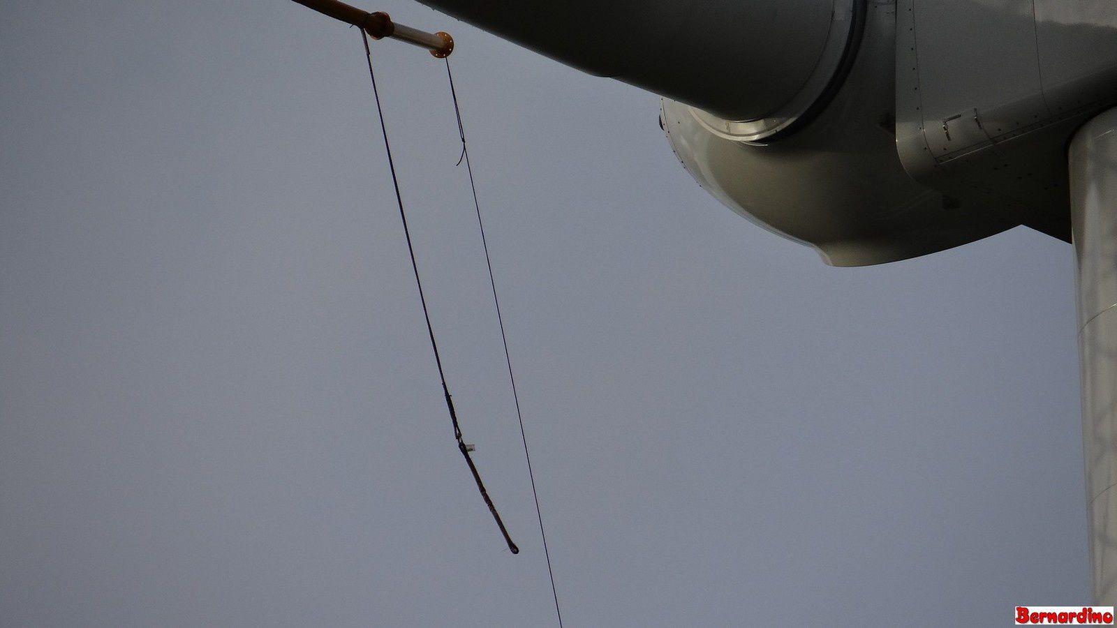 Spectacle son et lumière sur l'éolienne E2 de Trans/Courcité