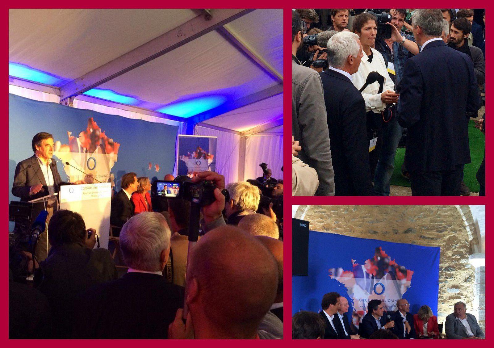 Rentrée de Force Républicaine avec François Fillon : &quot&#x3B;la seule courbe de croissance en hausse c'est celle de l'autosatisfaction de François Hollande !&quot&#x3B;