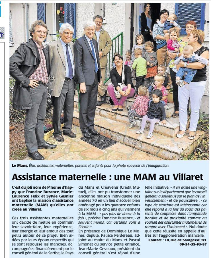 LE MANS : La Maison d'Assistance Maternelle P'Home d'Happy a été inaugurée