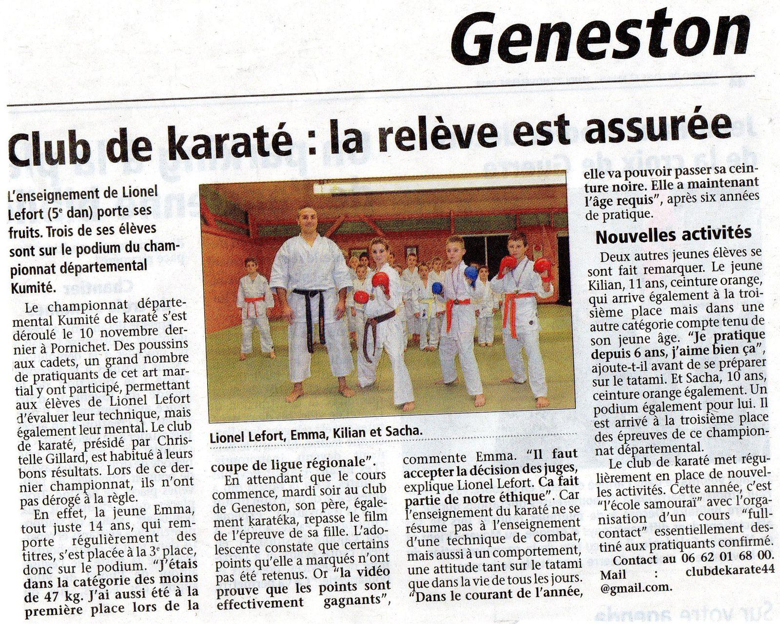 Novembre 2013 - karaté Geneston