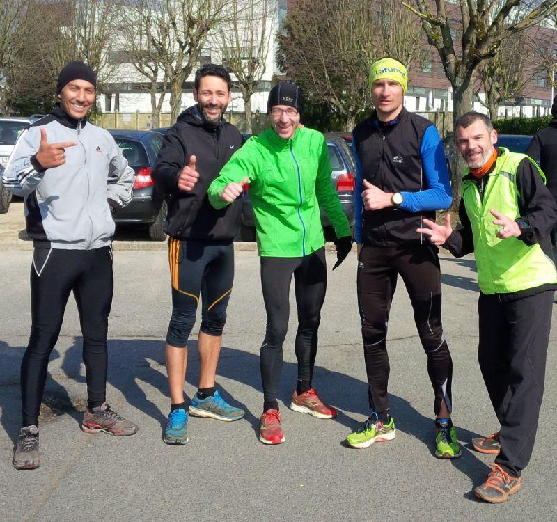 De gauche à droite : Abdelaziz, Sofiane, moi, Sylvain et Vincent