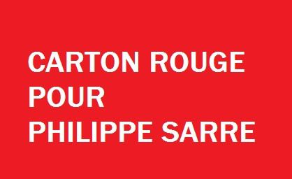 COLOMBES: carton rouge pour Philippe Sarre