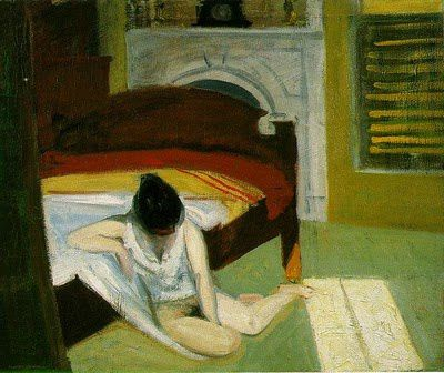 "La série de tableaux ""summer in the city"" Hopper."