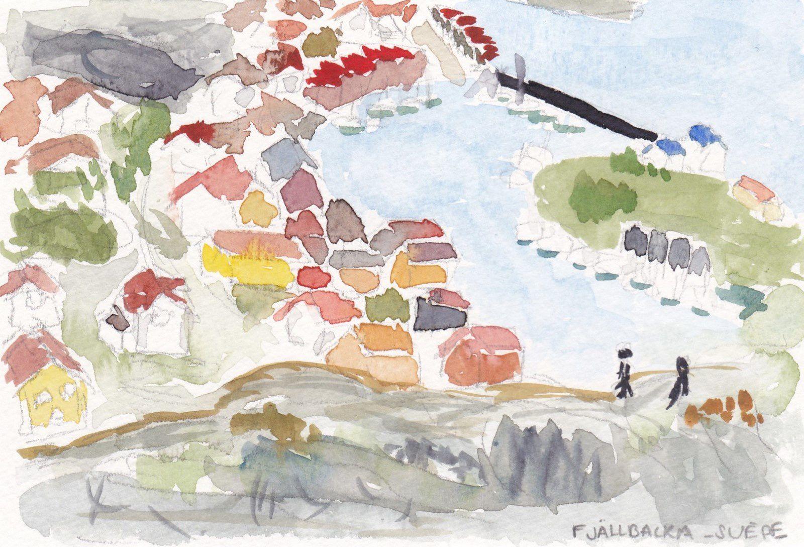 Carte postale d'un voyage imaginaire #2 - Fjällbacka (Suède)