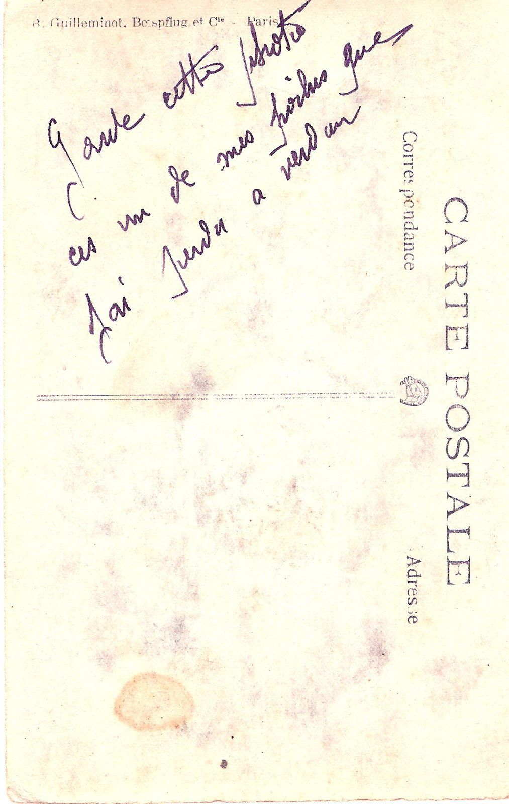 ... écrit de la main de mon grand-père revenu de cet enfer ...