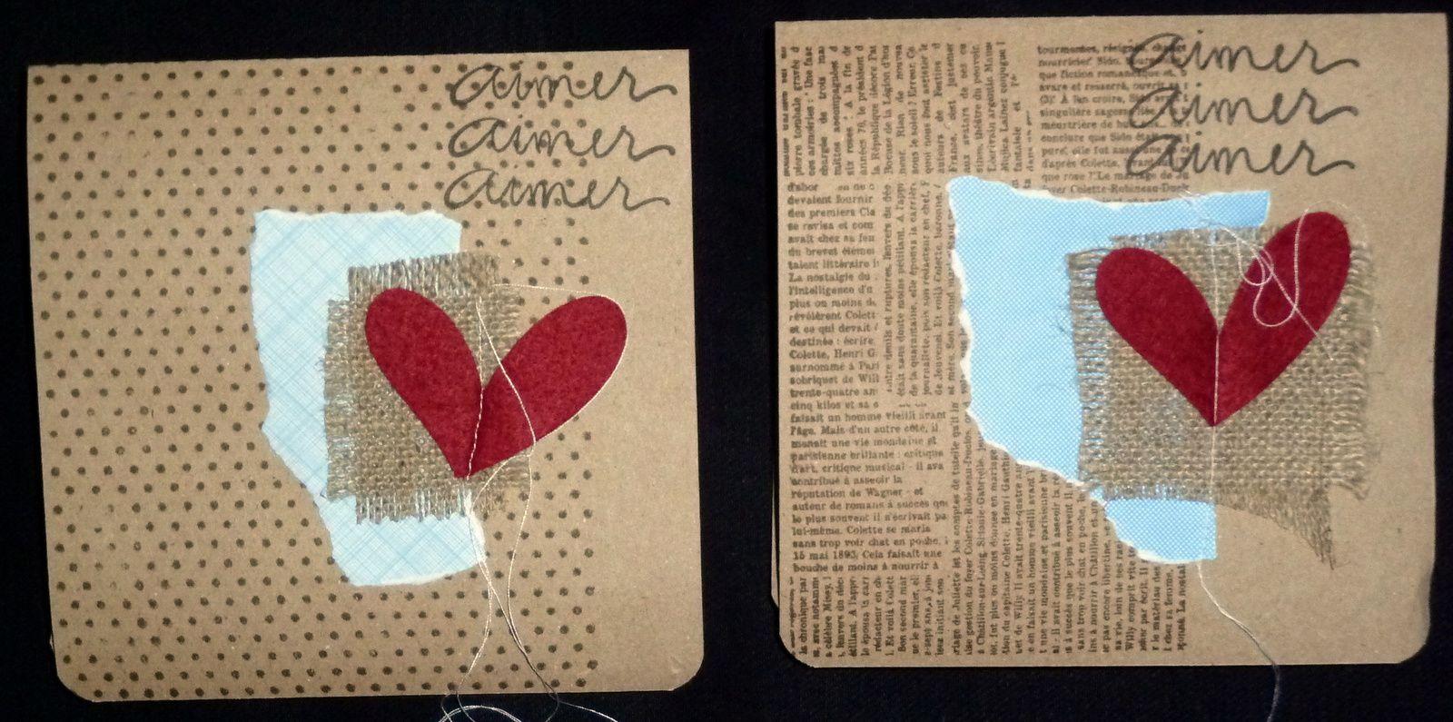 deux cartes pour la saint valentin