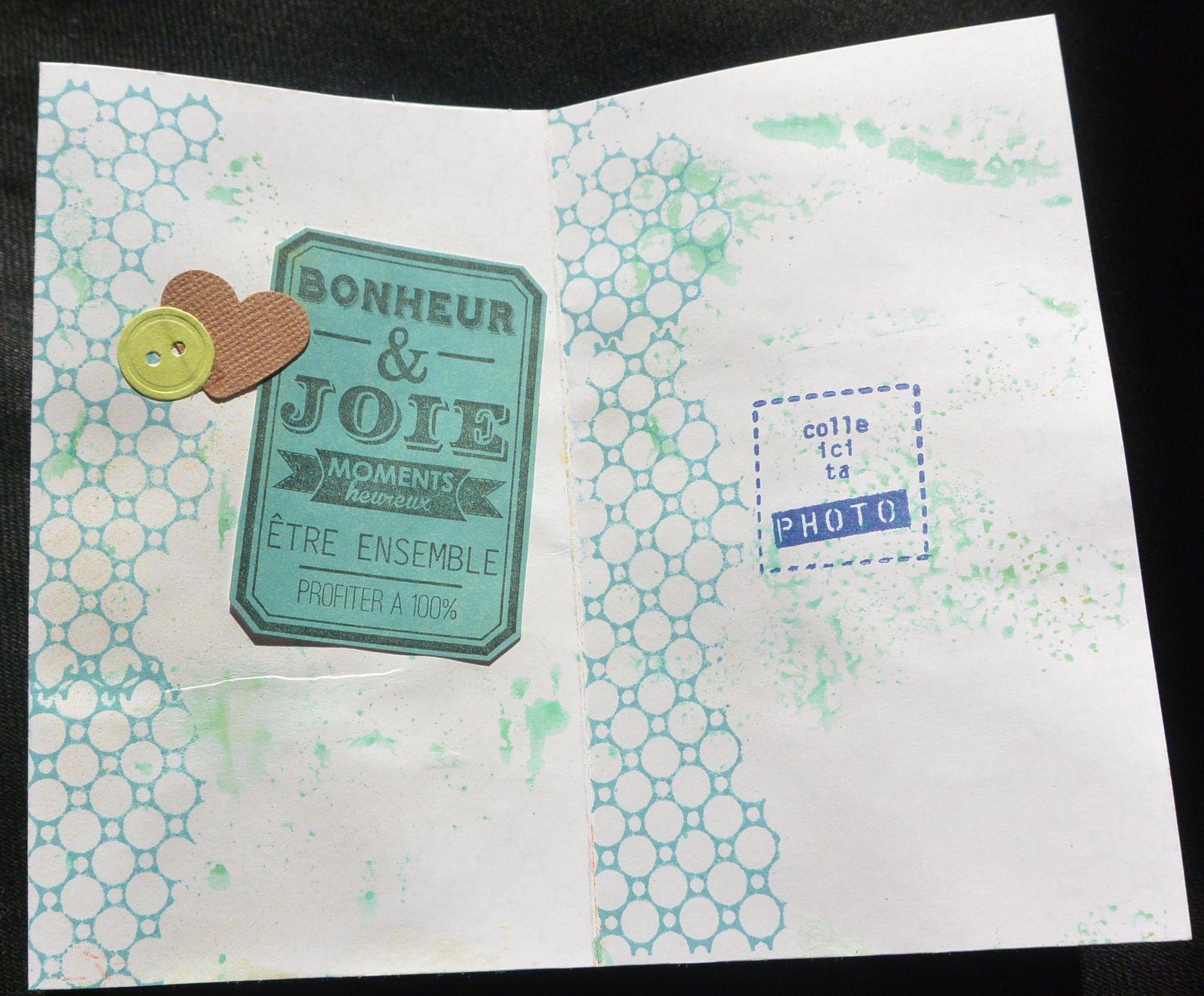 mini album boite mikado orange et turquoise